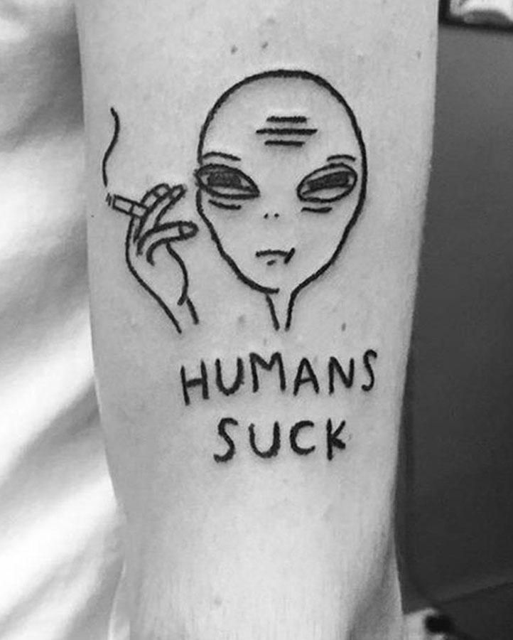 Humans Suck Temporary Tattoo – Simply Inked