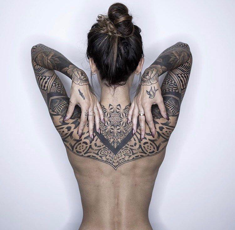 Full Body, Mandala, Tribal Tattoo on Arm, Shoulder
