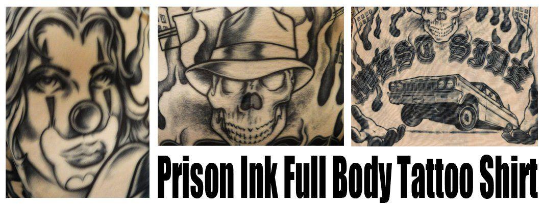 Men's Full Body Tattoo Shirt – Prison Ink Full Body Tattoo Shirt